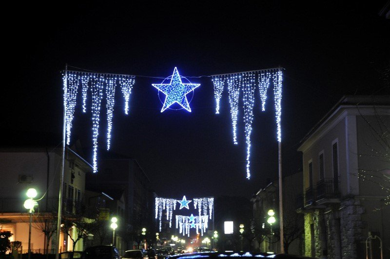 Luminarie Natalizie Esterne, noleggio luminarie per eventi, Rieti