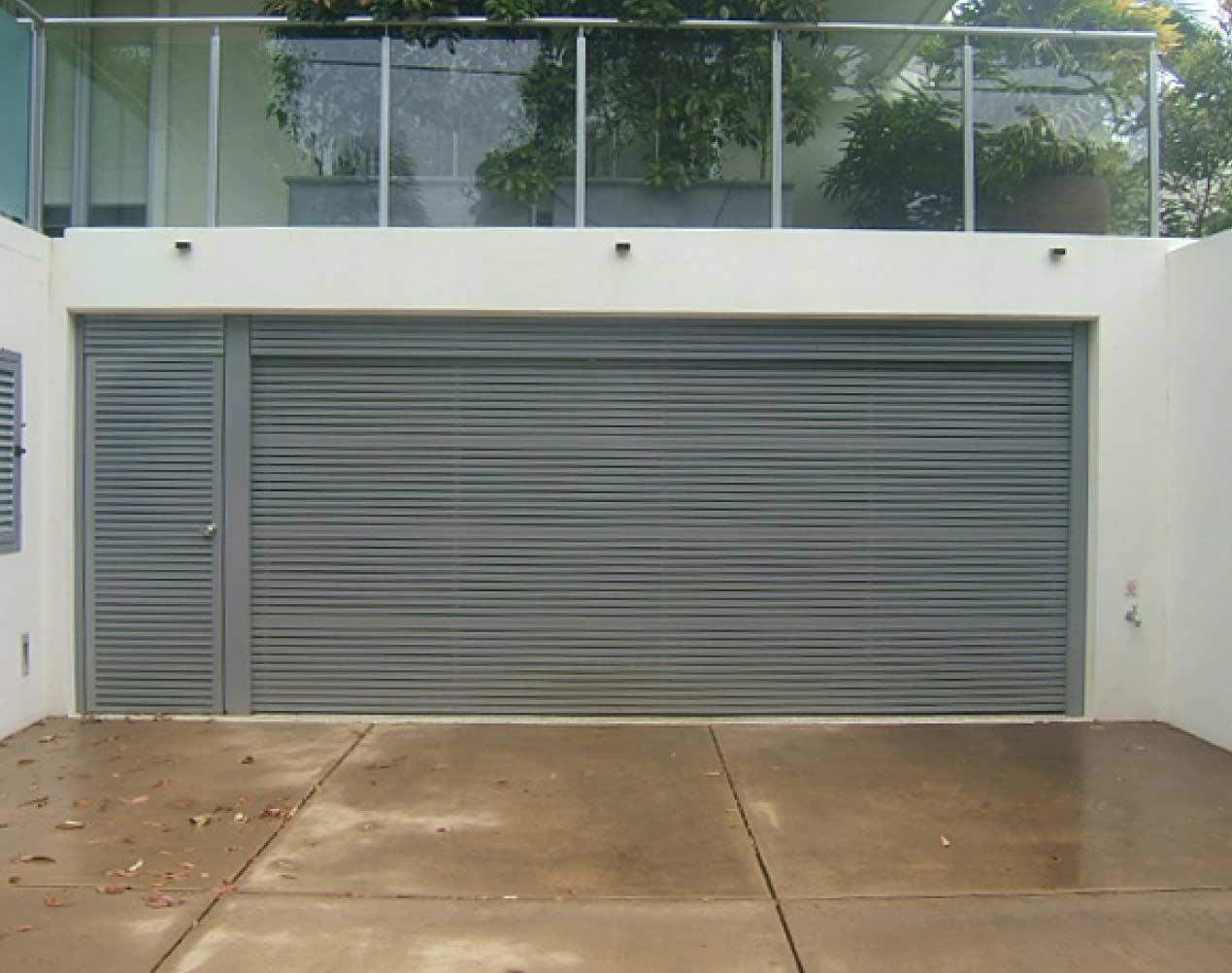 powder coated garage door