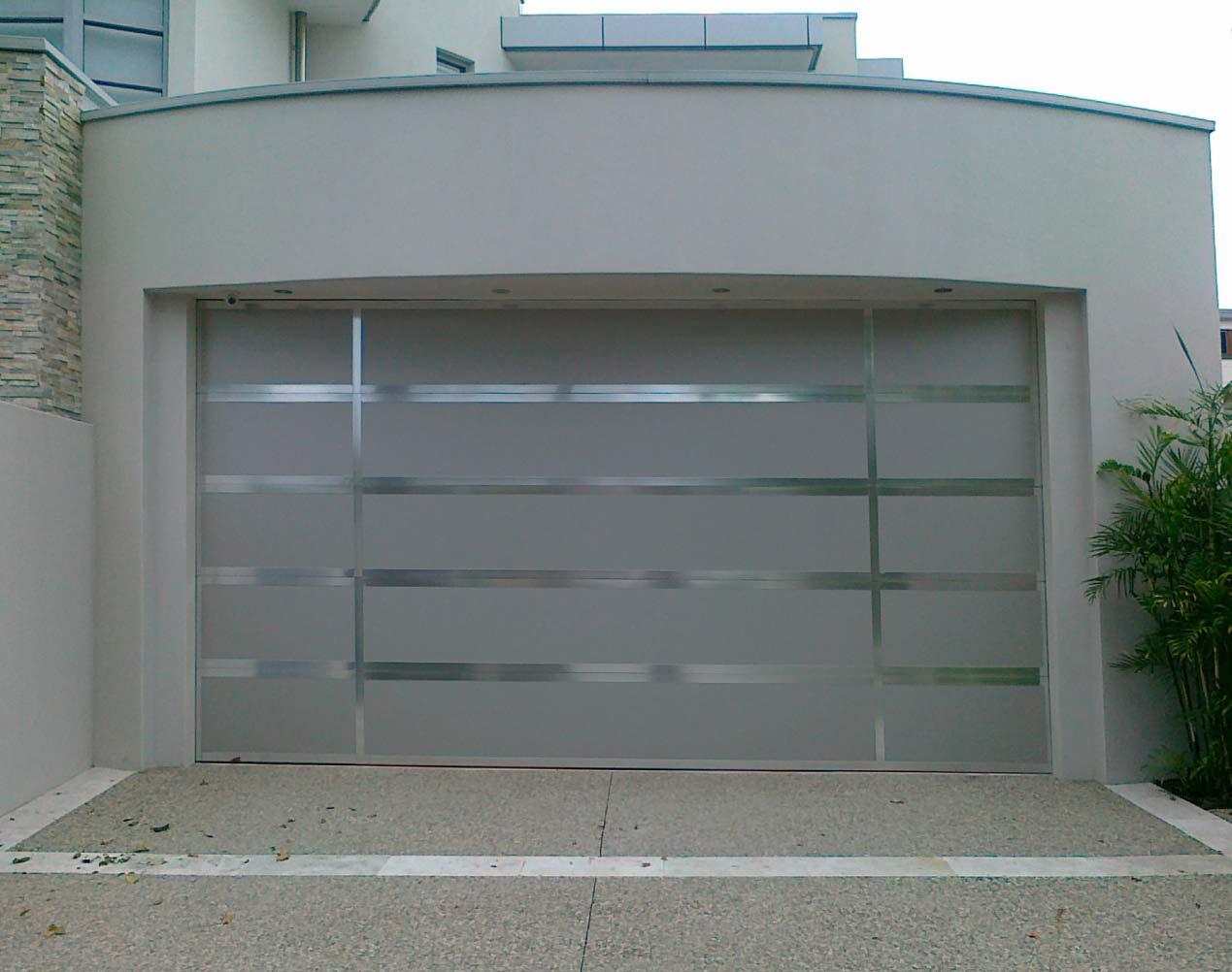aluminum battens sectional garage door