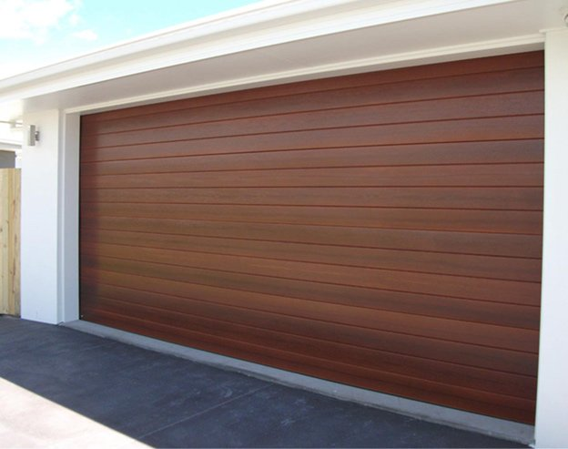 western red cedar sectional garage door