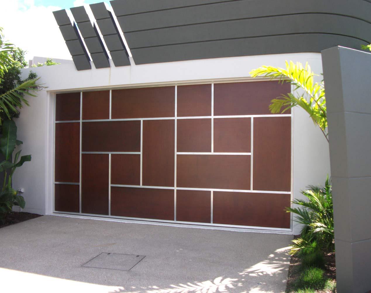 marine ply sectional garage door