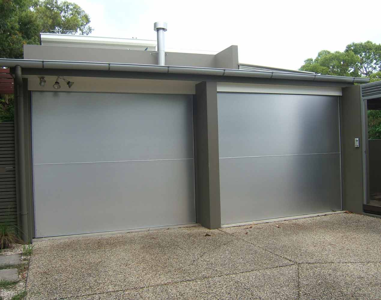aluminium composite tilt garage door