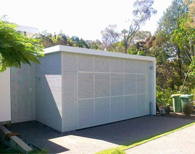 powder coated aluminium tilt garage door