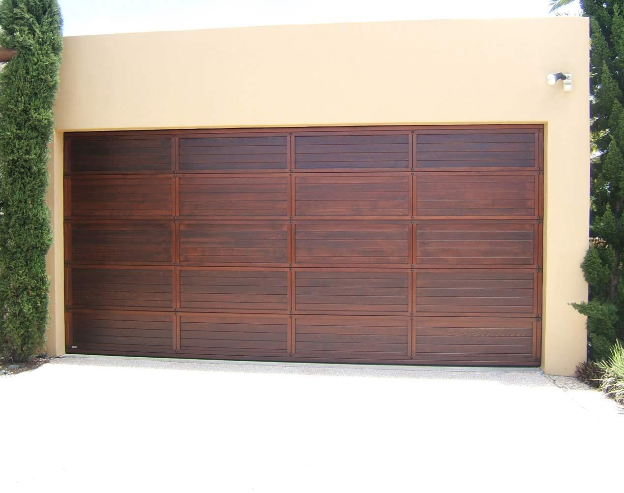 western red cedar garage door