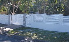 slide gate with matching fence panels