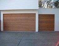 red cedar sectional garage door