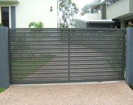 aluminum slatted slide gate