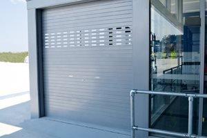 metal industrial door