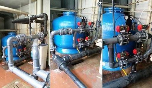Manutenzione per filtri di piscine