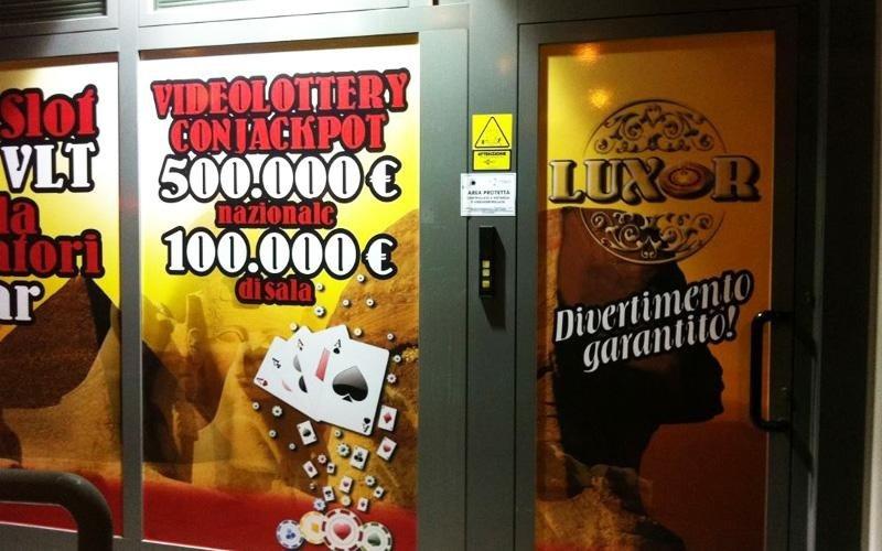 Sala Slot Luxor Impianto antintrusione, videosorveglianza, nebbiogeno, antirapina