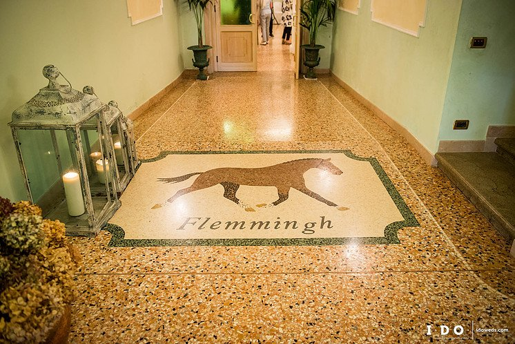 floor with horse depicted on the floor