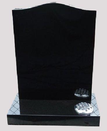 black headstone