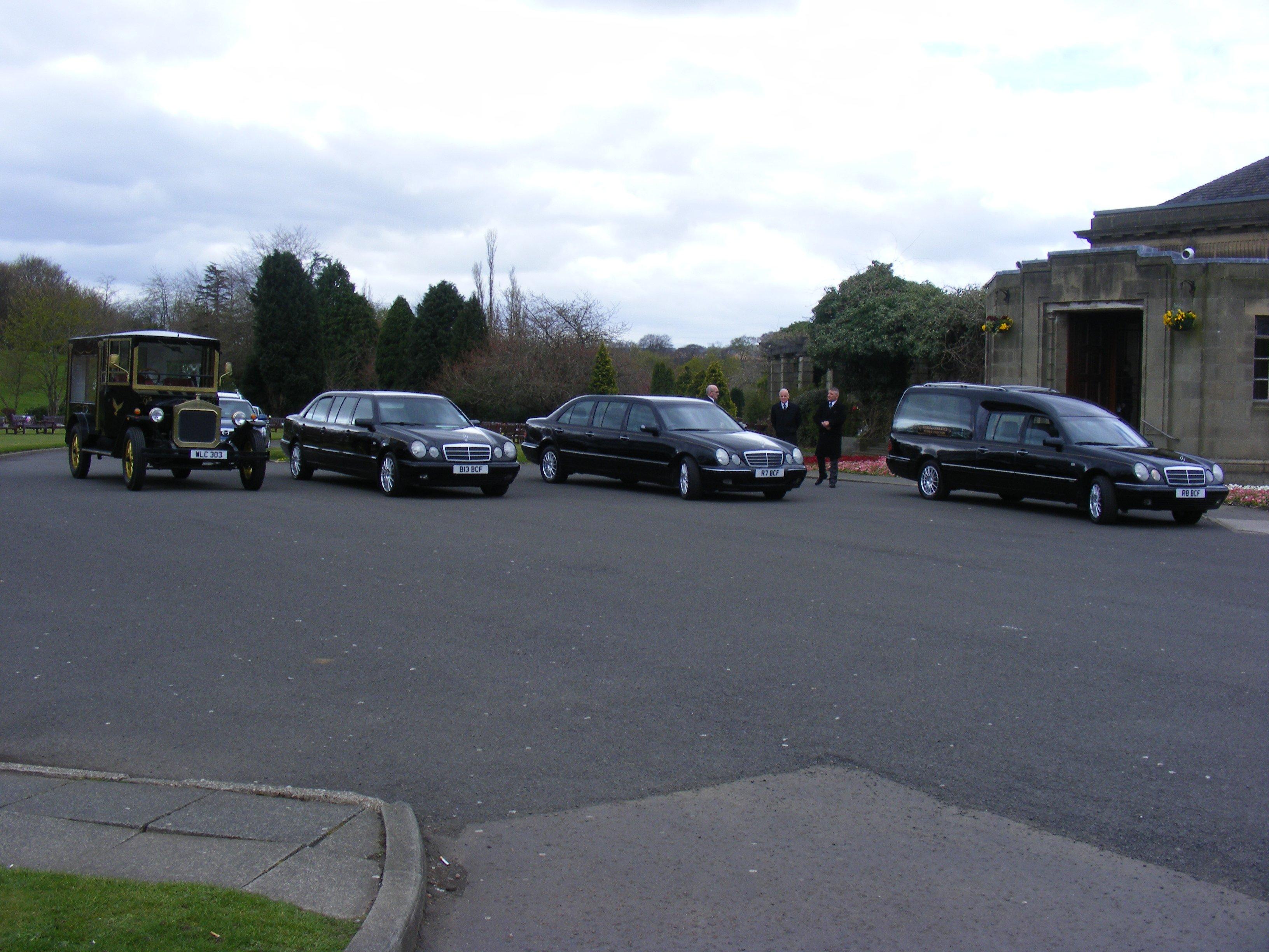 several cars