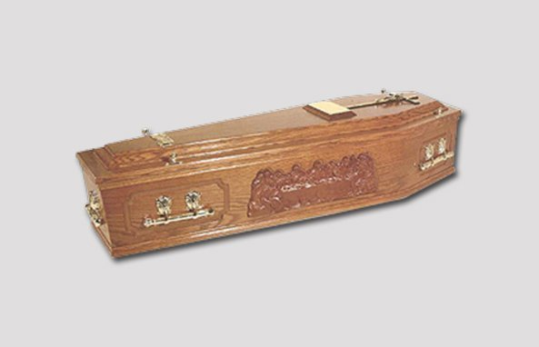 Oakland Veneered Coffin