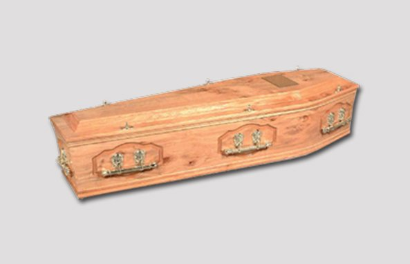 light brown coffin