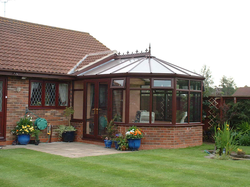 conservatory in a home