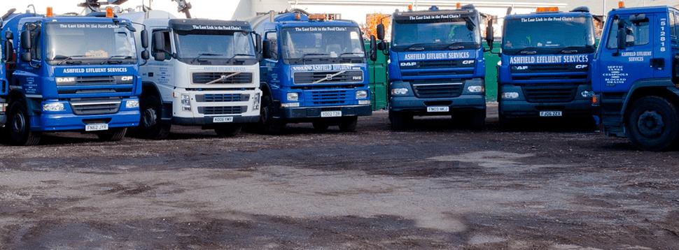 The Ashfield Effluent Services Ltd fleet