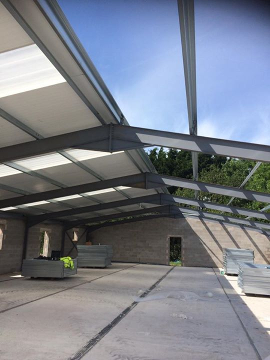 Roofing work at cattery