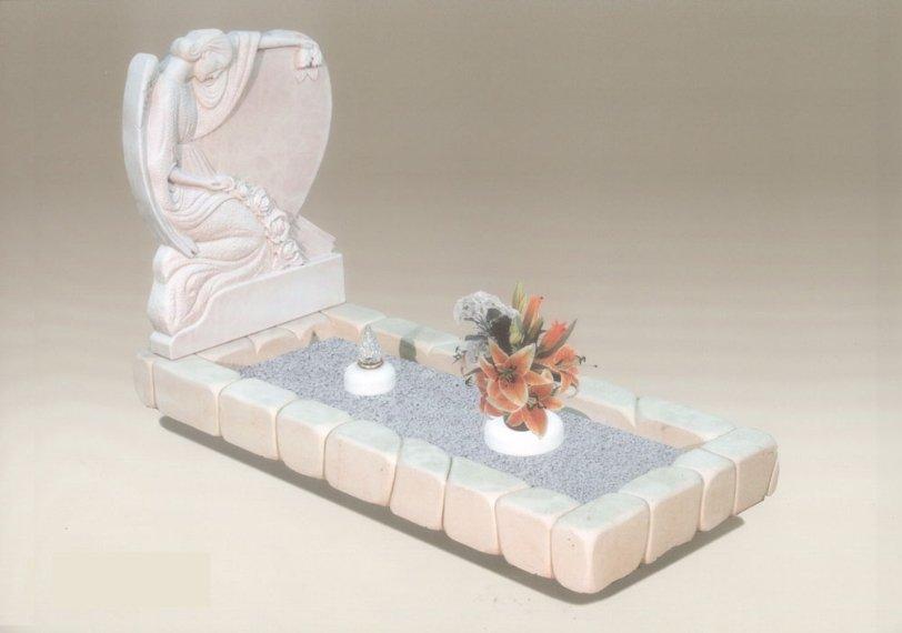 tomba con fiori in grafica digitale