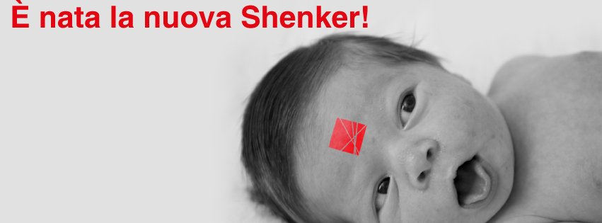 la scritta ' nata la nuova Shenker e l'immagine di un neonato