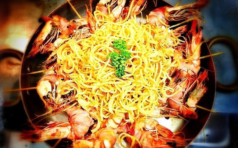 Spaghetti e gamberoni