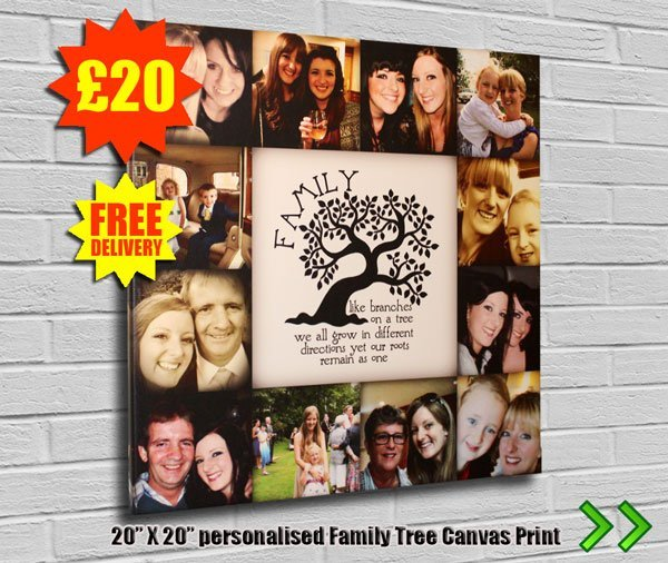 Family Tree Canvas on SALE