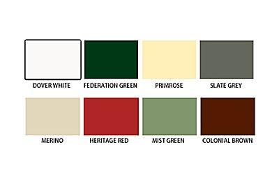 trimview mobile guttering colour palette