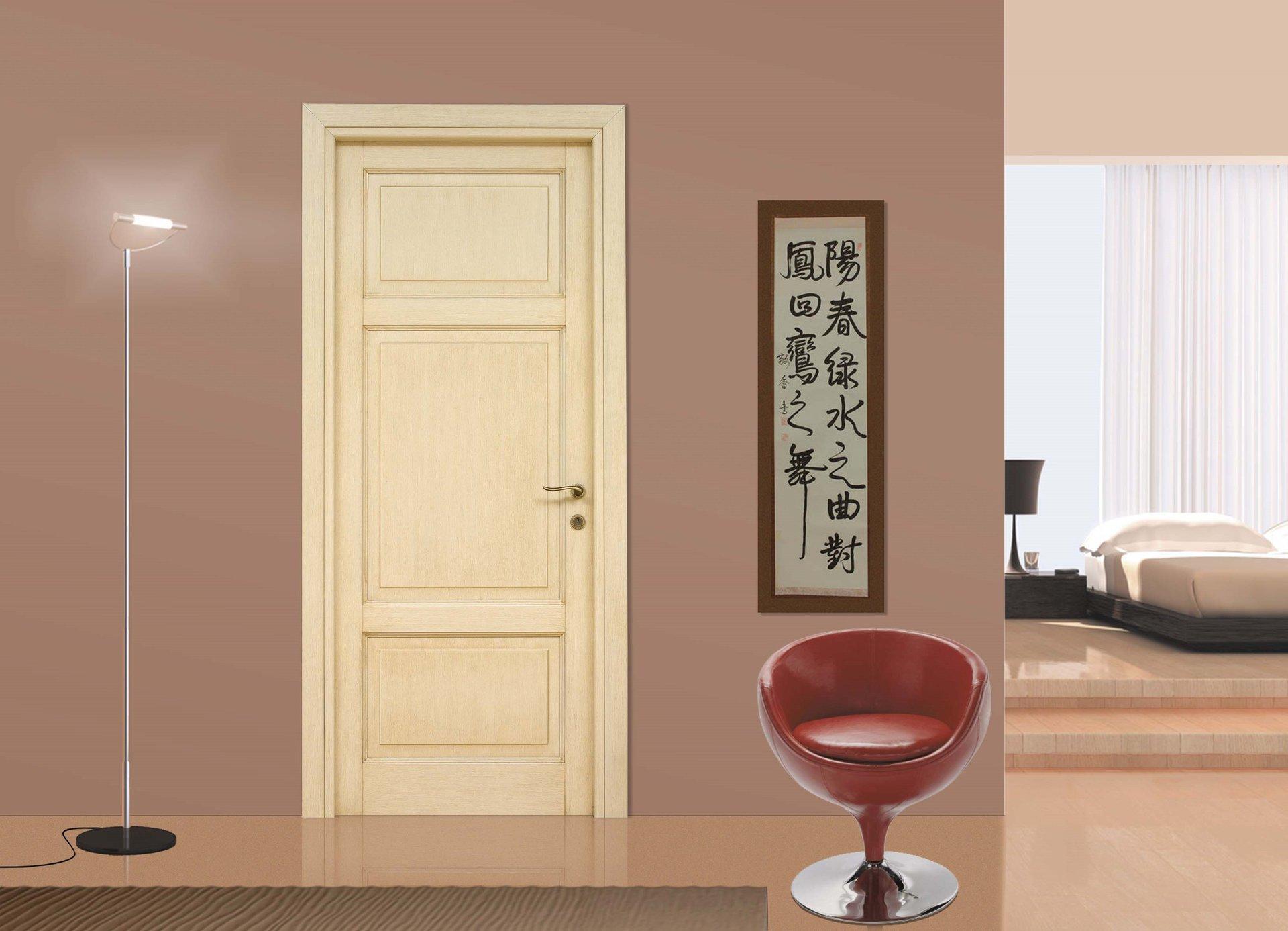 porta per ambienti interni in legno massello