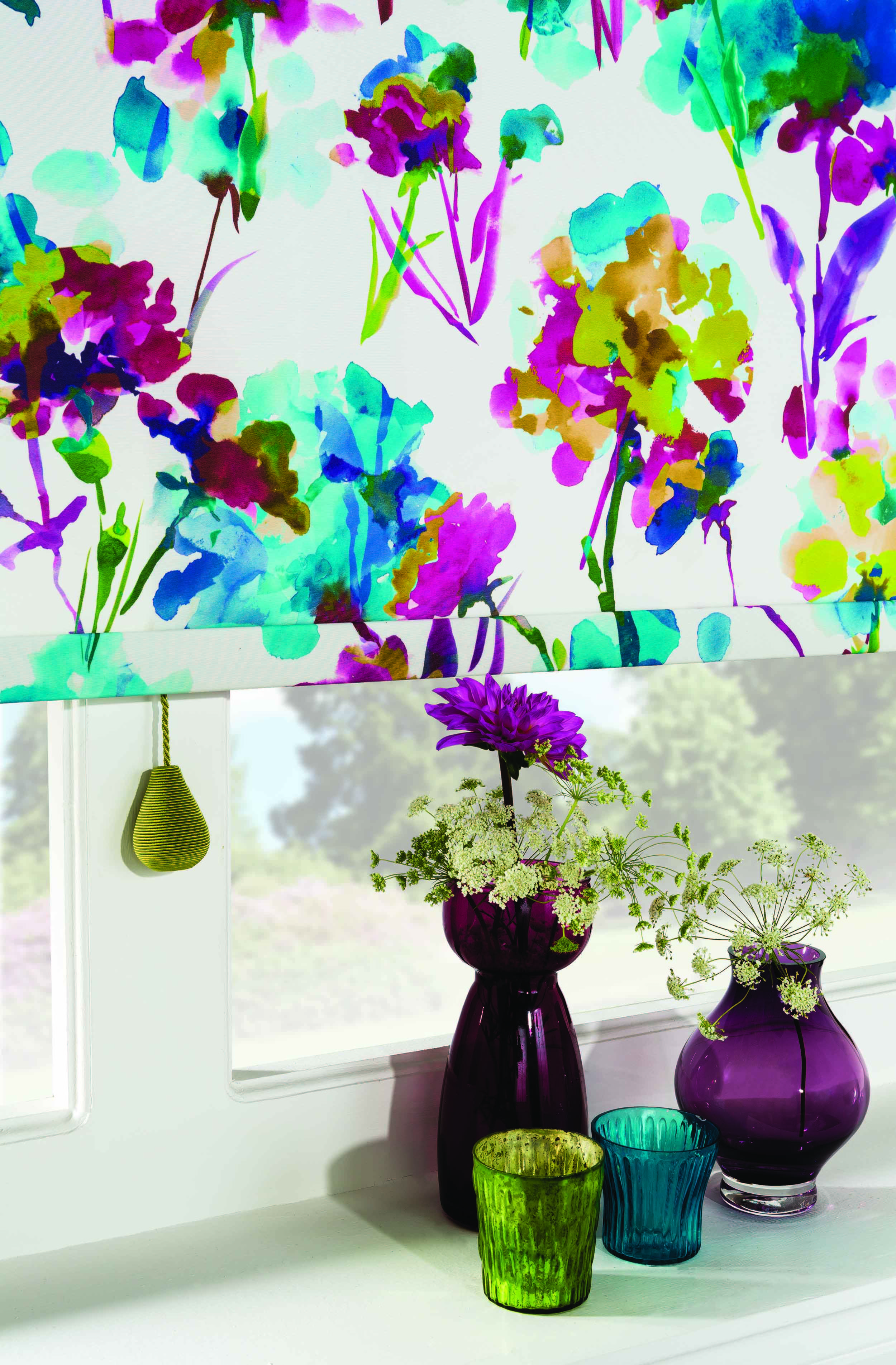 A colourful Roller Blind