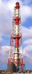 AirPol Spray Tower Acid Gas Absorber for a 60 MW coal fired power boiler