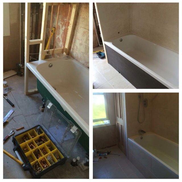 constructing a new bathroom