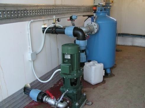 pompa e filtro a graniglia