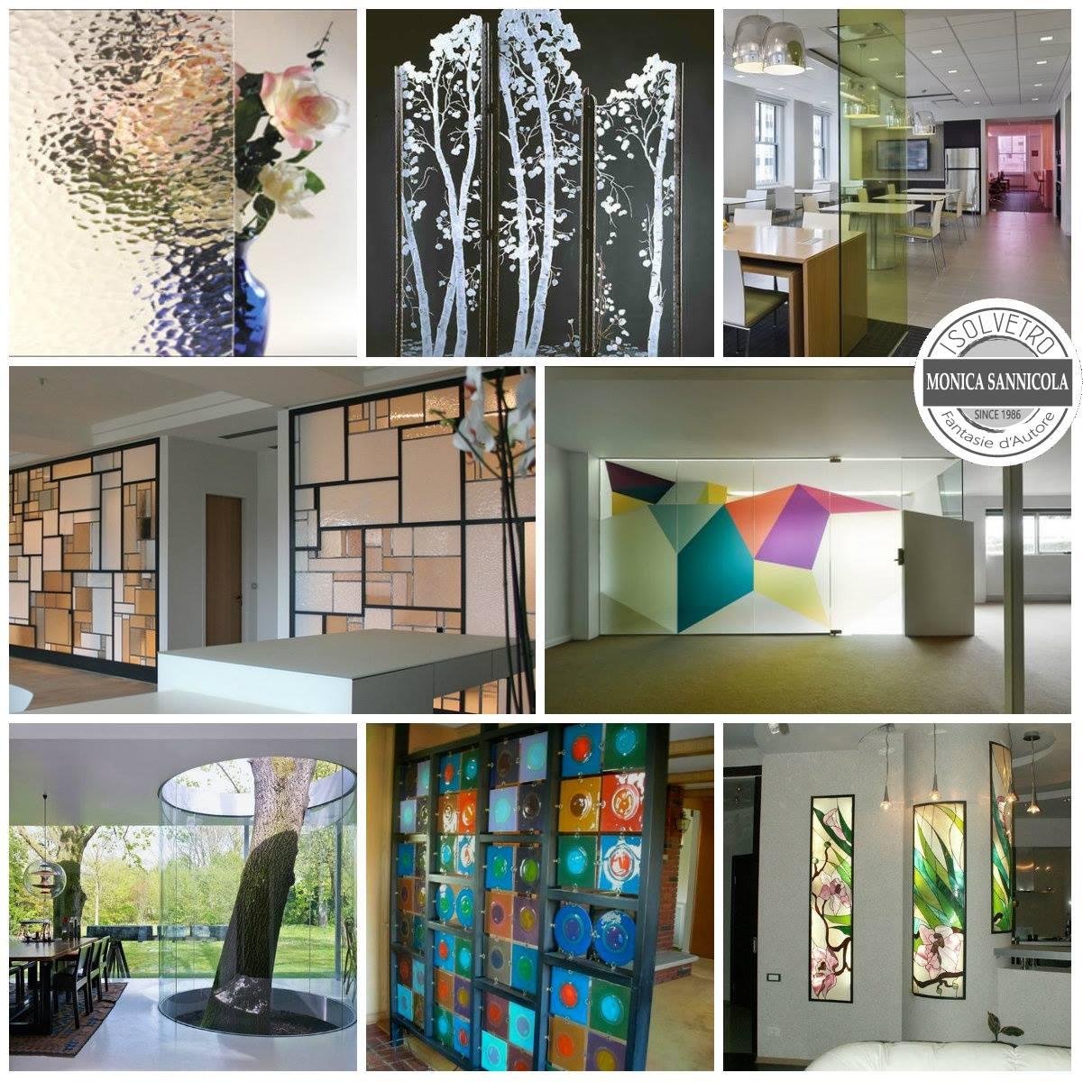 pareti a vetro colorate o con immagini
