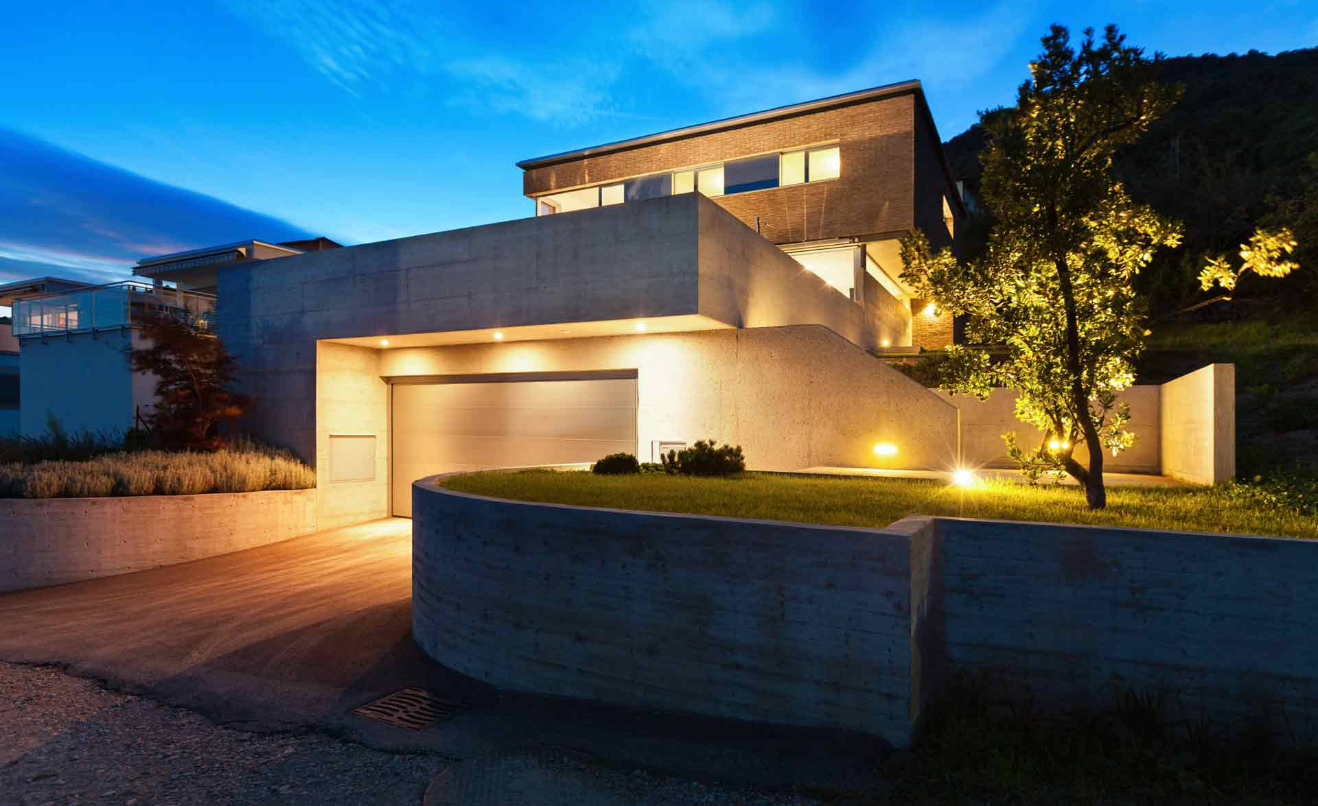Exterior lighting by our electrical contractors in Geelong