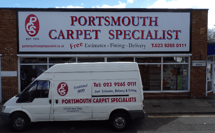 Exterior view of Carpet specialist shop in Portsmouth