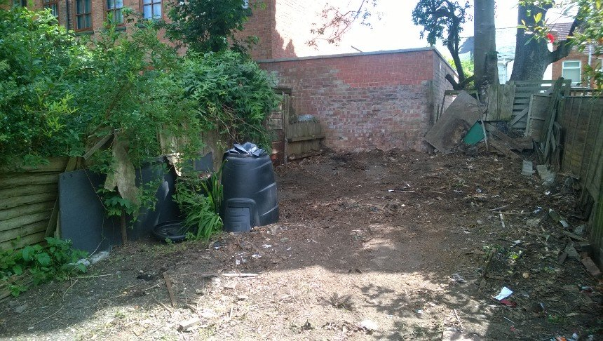 garden after the clearance work