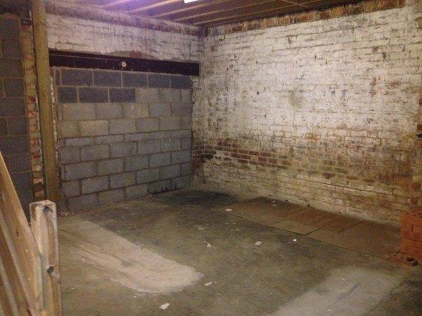 an empty basement