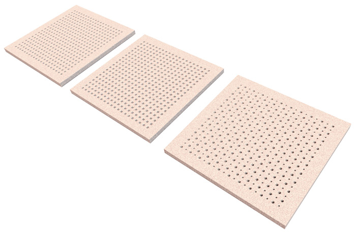 mattonelle acustiche del soffitto su sfondo bianco