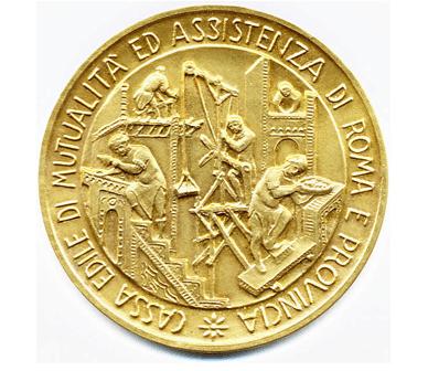 moneta con soggetti allegorici