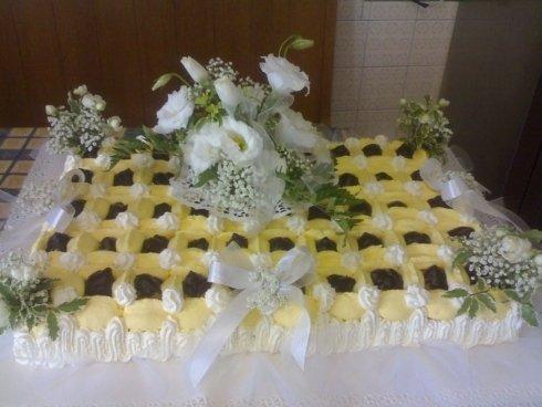 torta alla crema e cioccolato