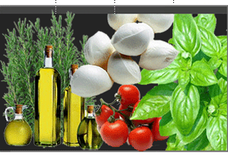 olio extravergine di oliva, verdure di stagione, pesce fresco, pizza