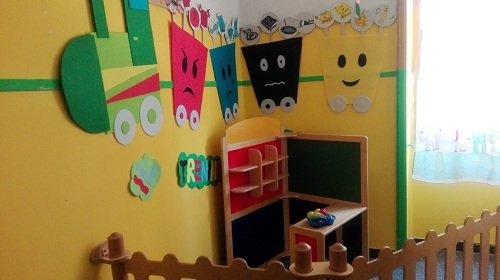 la sala di un asilo