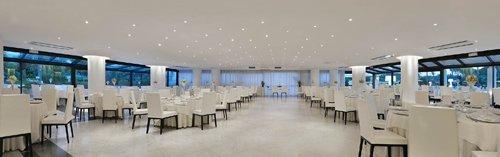 vista panoramica del salone per organizzazione di meeting dell'Hotel Mec Paestum a Capaccio
