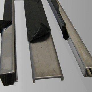 acciaio inox lucido, protezione in PVC