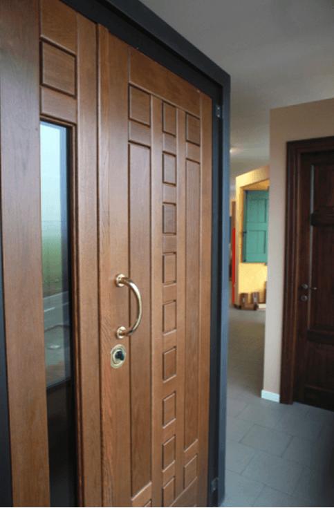 porte blindate in legno massello