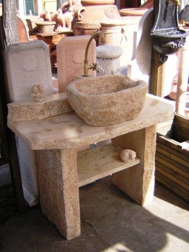 lavandino travertino vasca