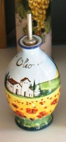 oliera dipinta a mano