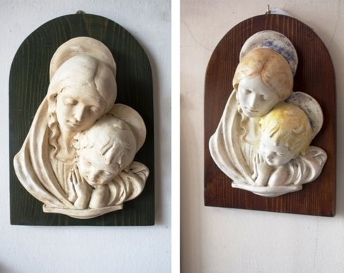bassorilievo madonna con bambino