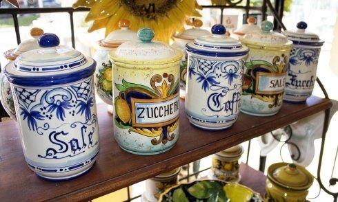 portaspezie in ceramica