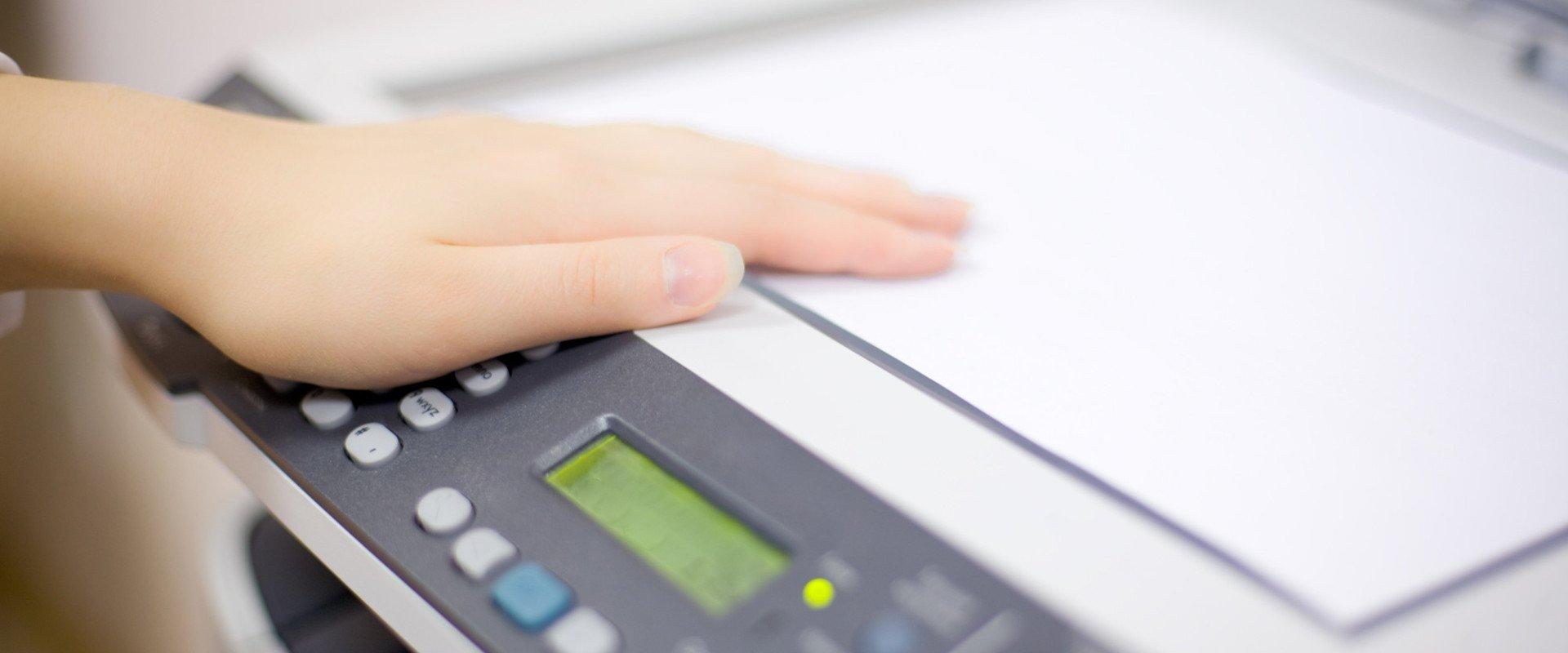 photocopy machine screen